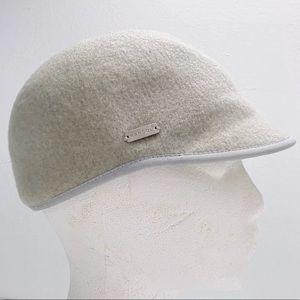 NWT Kangol Flat Cap Hat felt wool beige grey